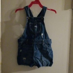 Overall Jean Short Set